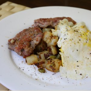 Dinner Tonight: Breakfast Sausage, Home Fries, and Eggs Recipe