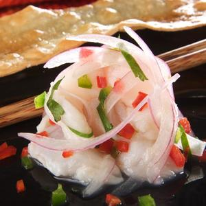 Red Snapper Ceviche With Jalapeno And Red Onion